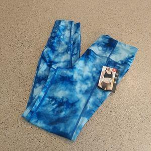 Avia tie dye blue Athletic Running Leggings vsco